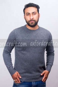 Cashmere Gents Round Neck Sweater